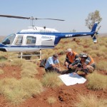 Helicopter field sampling
